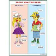 About what we wear/ Daily meals (DUO) - Plansa viu colorata, cu 2 teme distincte