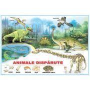 Animalele disparute / Curtea fermierului - Plansa cu 2 teme distincte imagine librariadelfin.ro