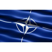 Drapel NATO (1350x900mm/110) - poliester cu microperforatii imagine librariadelfin.ro