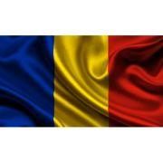Drapel tricolor ROMANIA (900X600mm) - satin imagine librariadelfin.ro