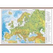 Europa. Harta fizica si politica 1600x1200 mm cu sipci (GHEF160) imagine librariadelfin.ro
