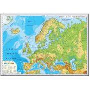 Europa. Harta fizica si politica 700x500mm (GHEF70-L) imagine librariadelfin.ro
