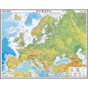 Europa. Harta fizica si politica/Harta de contur (verso), 500x350 mm (LGHR5)