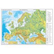 Europa. Harta fizica si politica /Harta de contur (verso), 600x470 mm (GHEF60) imagine librariadelfin.ro