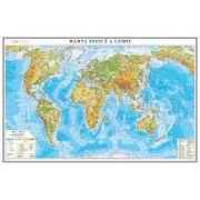 Harta fizica a lumii 1000x700mm (GHLF100-L) imagine librariadelfin.ro