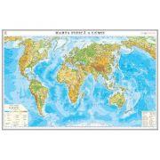 Harta fizica a lumii 1400x1000mm (GHL2F-INT-L) imagine librariadelfin.ro