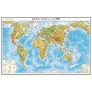 Harta fizica a lumii /Harta de contur (verso), 600x470 mm (GHLF60) imagine librariadelfin.ro