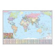 Harta politica a lumii 1600x1200mm (GHLP160-L)