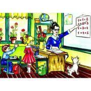 La scoala - Plansa educativa imagine librariadelfin.ro