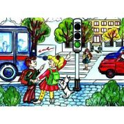 La semafor - Plansa educativa imagine librariadelfin.ro