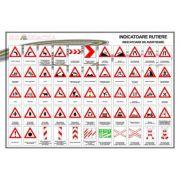 Plansa - Indicatoare de avertizare imagine librariadelfin.ro