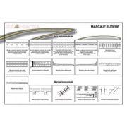 Plansa - Marcaje rutiere 1 (longitudionale si transversale) imagine librariadelfin.ro