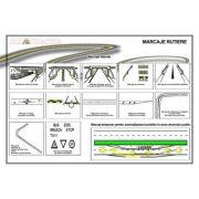 Plansa - Marcaje rutiere 2 (laterale si temporare, pentru semnalizarea lucrarilor in zona drumului) imagine librariadelfin.ro