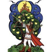 Praslea cel voinic si merele de aur - Plansa poveste (PP12) imagine librariadelfin.ro