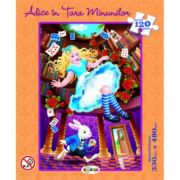 Puzzle Alice in tara minunilor imagine librariadelfin.ro