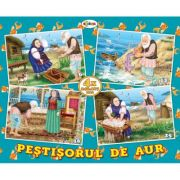 Puzzle Pestisorul de aur. 4 imagini imagine librariadelfin.ro