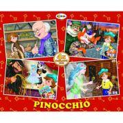 Puzzle Pinocchio. 4 imagini imagine librariadelfin.ro
