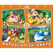 Puzzle Ratusca cea urata. 4 imagini imagine librariadelfin.ro