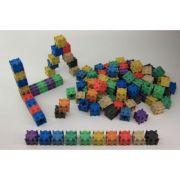 Set de cuburi colorate interconectabile - 10 culori, 100 piese imagine librariadelfin.ro
