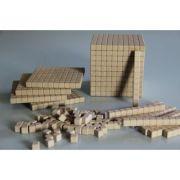 Set de cuburi in baza 10, cu latura de 1cm - 121 piese imagine librariadelfin.ro