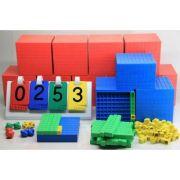Set de cuburi in baza 10 (pentru intreaga clasa) - 4 culori imagine librariadelfin.ro