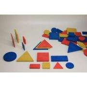 Set figuri geometrice (48 piese) - in 3 culori, 2 dimensiuni imagine librariadelfin.ro