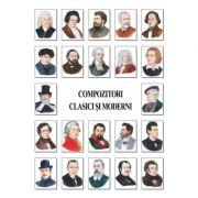 Set portrete - 25 compozitori clasici si moderni (PA1-2) imagine librariadelfin.ro