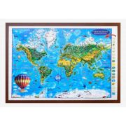 Carte de monde pour enfants, projection 3D, 1400x1000mm (3DGHLCP-FR) imagine librariadelfin.ro