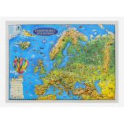 Europakarte fur kinder, Reliefkarte 3D-Format, 450x330mm (3DGHECP45-DE) imagine librariadelfin.ro
