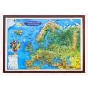 Europakarte fur kinder, Reliefkarte 3D-format, 1000x700mm (3DGHECP100-DE) imagine librariadelfin.ro