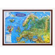 Europe map for children, 3D Projection, 1000x700mm (3DGHECP100-EN)