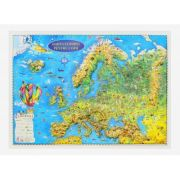 Harta Europei pentru copii, proiectie 3D, format A3 (3DGHECP430) imagine librariadelfin.ro