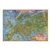 Harta Europei pentru copii 1400x1000mm, fara sipci (GHECP-L)