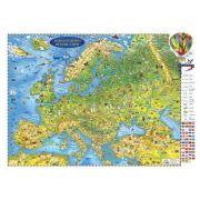Harta Europei pentru copii 1600x1200mm, fara sipci (GHECP160-L) imagine librariadelfin.ro