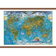 Harta lumii pentru copii 700x500mm, cu sipci (GHLCP70) imagine librariadelfin.ro