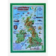 United Kingdom and Ireland map for children, 3D projection, Mercator 700x1000mm (3DGHBRIT70-EN) imagine librariadelfin.ro