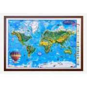 World map for children, 3D projection, 1400x1000mm (3DGHLCP-EN) imagine librariadelfin.ro