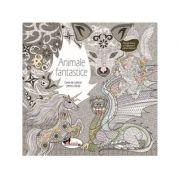 Animale fantastice. Carte de colorat pentru adulti imagine librariadelfin.ro