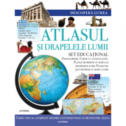 Descopera lumea. Atlasul si drapelele lumii imagine librariadelfin.ro