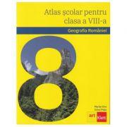 Geografia Romaniei. Atlas scolar pentru clasa a VIII-a - Marian Ene, Ionut Popa imagine librariadelfin.ro