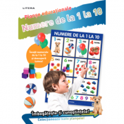 Numere de la 1 la 10. Planse educationale imagine librariadelfin.ro