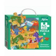 Junior Jigsaw 45 Piece Puzzle. Dinosaur Adventure imagine librariadelfin.ro