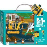 Junior Jigsaw 45 Piece Puzzle. Fixing the Road imagine librariadelfin.ro