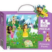 Junior Jigsaw 45 Piece Puzzle. Princess Picnic imagine librariadelfin.ro