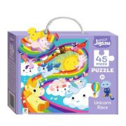Junior Jigsaw 45 Piece Puzzle. Unicorn Race imagine librariadelfin.ro