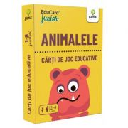 Animalele. EduCard Junior. Carti de joc educative imagine librariadelfin.ro