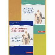 Teste-grila pentru concursul de admitere la Facultatea de Drept. Limba romana si Economie + supliment Macroeconomie - Anca Davidoiu-Roman imagine librariadelfin.ro