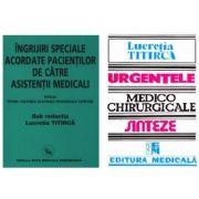 Pachet Ingrijiri speciale acordate pacientilor si Urgentele medico-chirurgicale, autor Lucretia Titirca imagine libraria delfin 2021