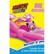 Disney. Mickey si pilotii de curse. Oul buclucas. Povesti si jocuri imagine libraria delfin 2021