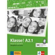 Klasse! A2. 1, Ubungsbuch mit Audios - Sarah Fleer, Ute Koithan, Tanja Mayr-Sieber, Bettina Schwieger imagine librariadelfin.ro